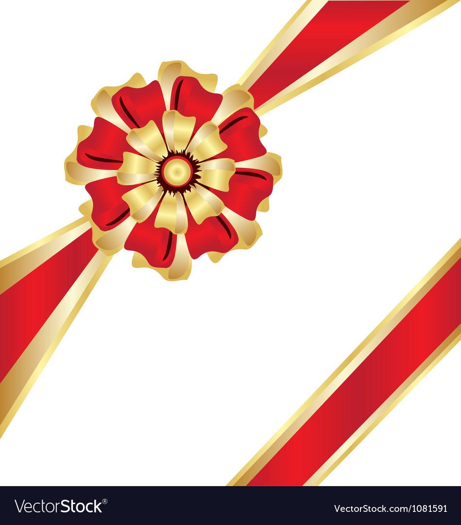 Christmas box gift ribbon vector