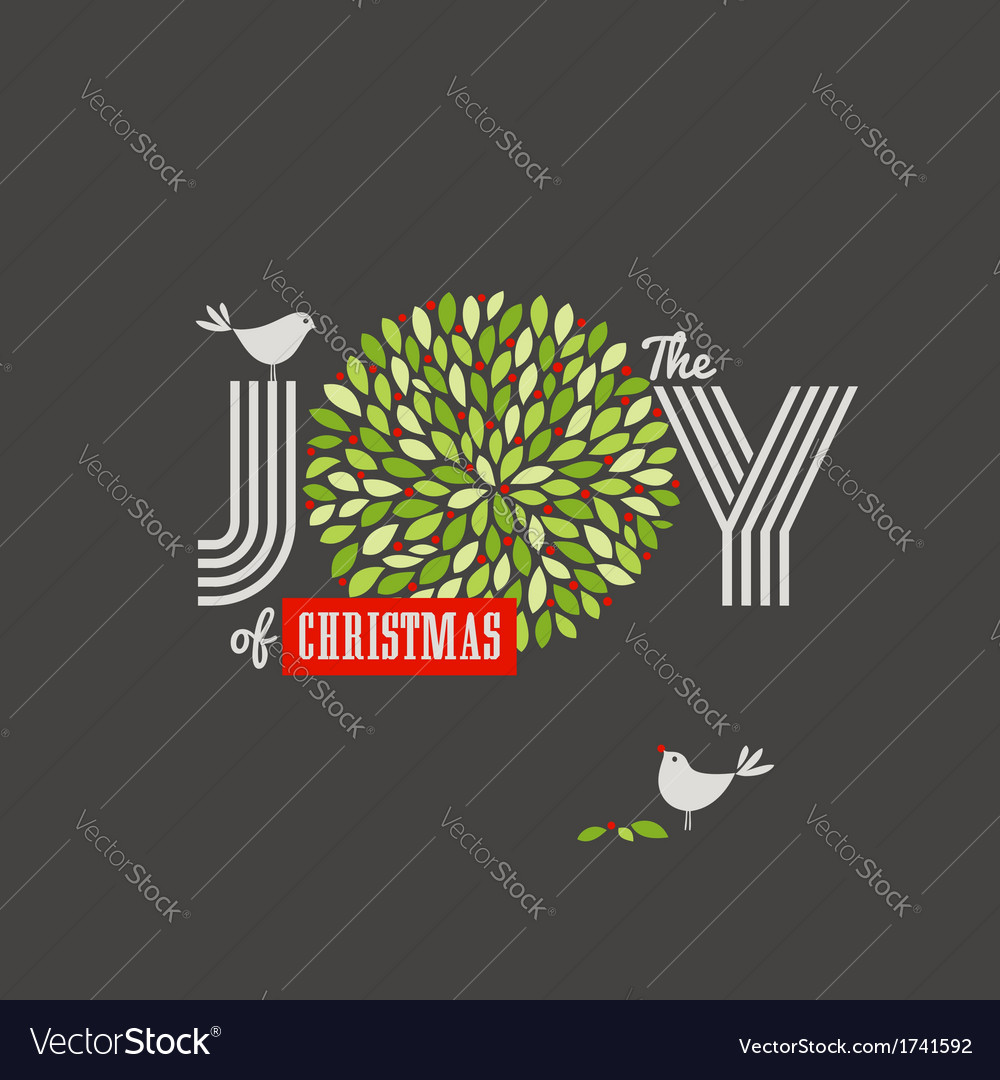 Christmas background with cute birds vector