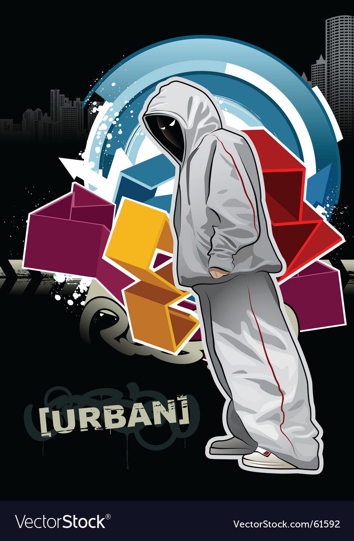 Urban gangster vector
