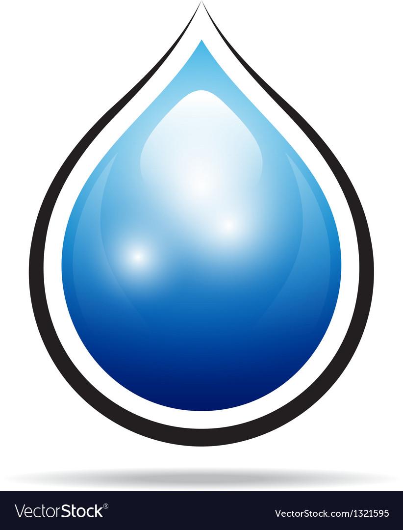 Water drop sign vector