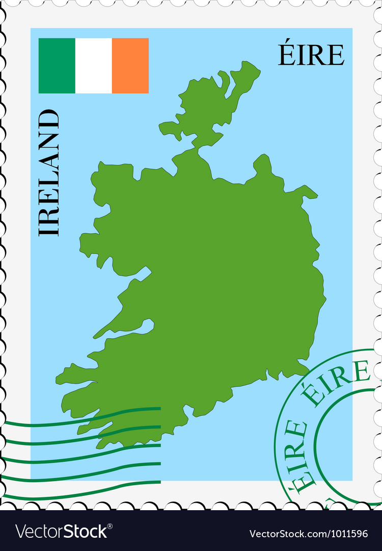 Mail to-from ireland vector