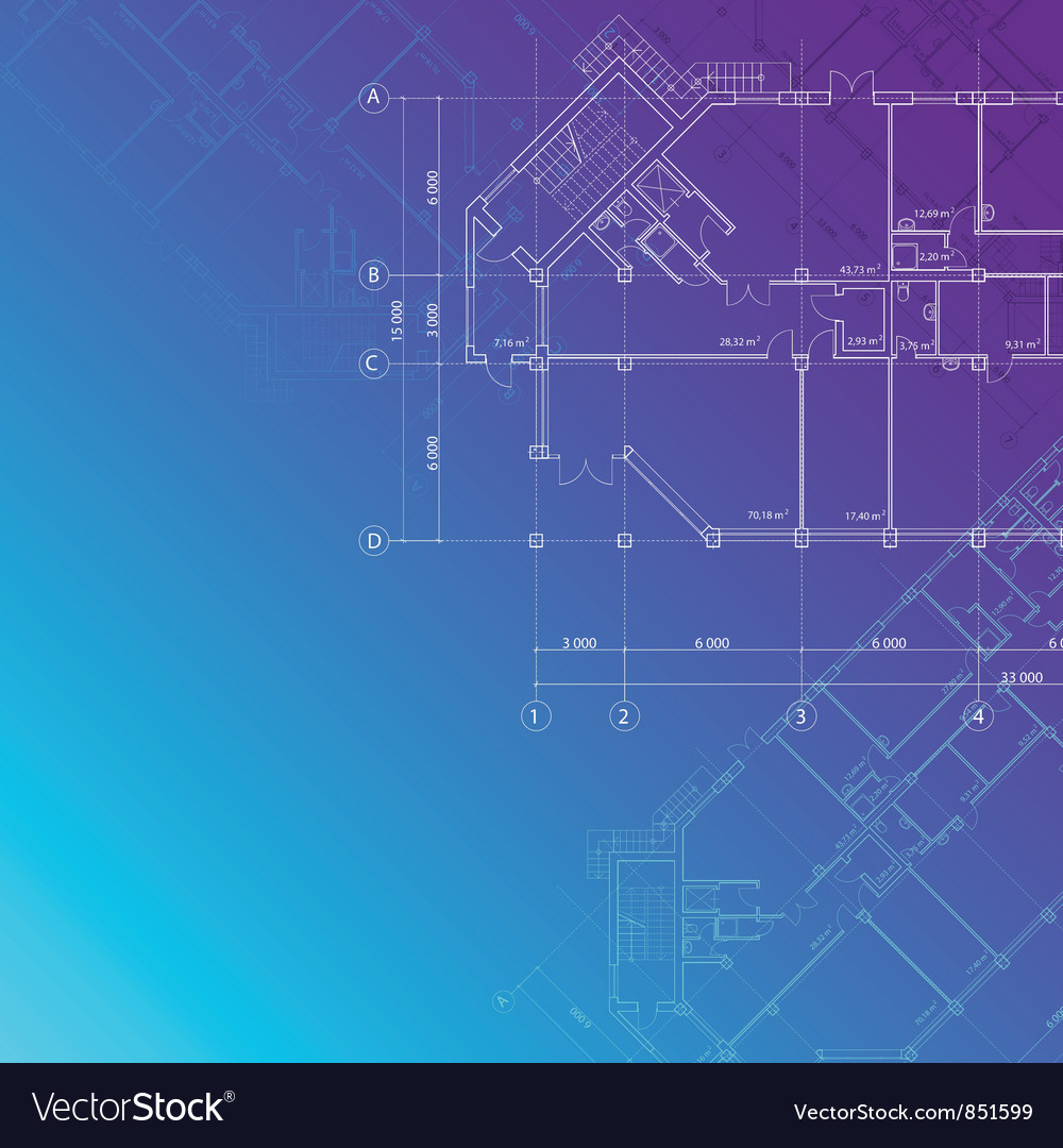 Blue architectural background vector