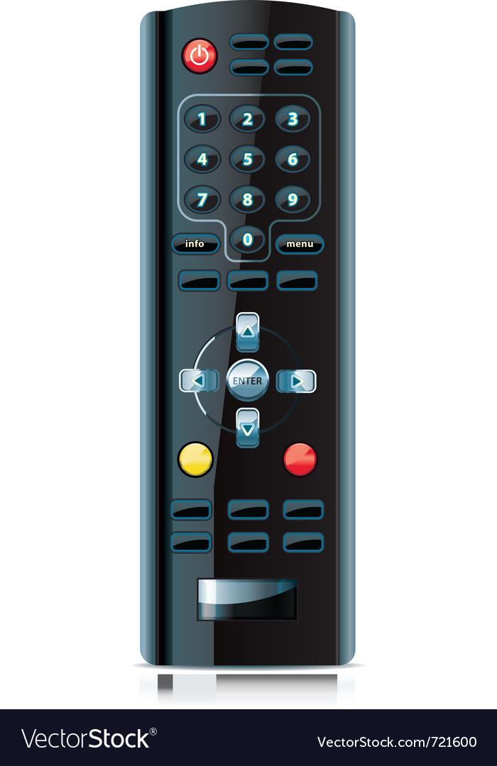 Realistic looking remote control vector