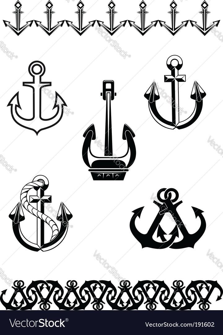 Set of anchor symbols vector