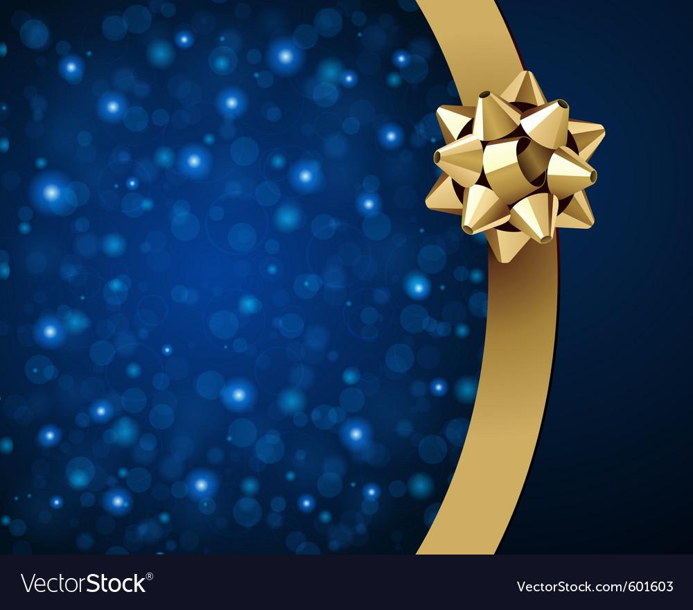 Christmas ribbon background vector