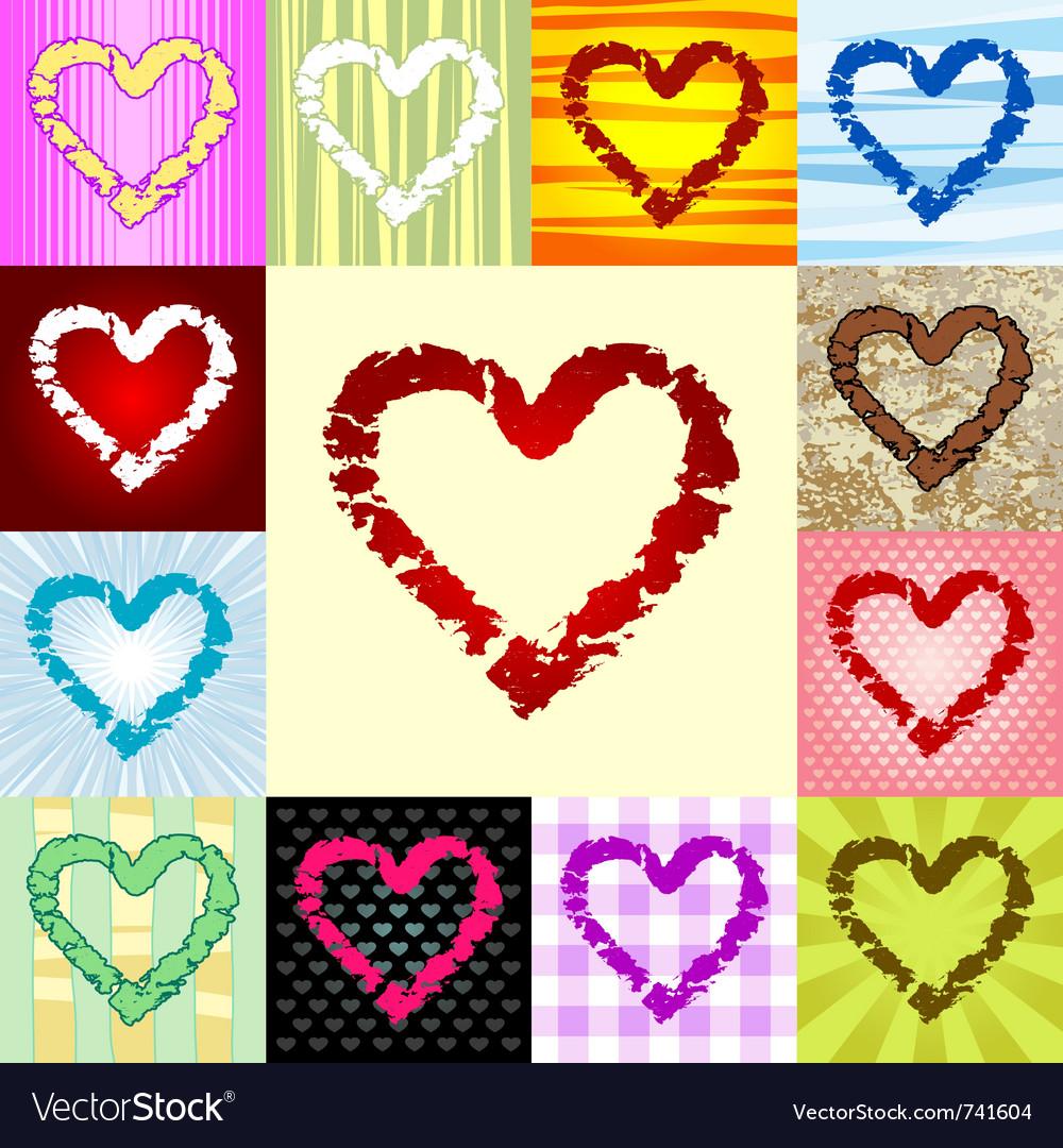 Rough heart pattern vector