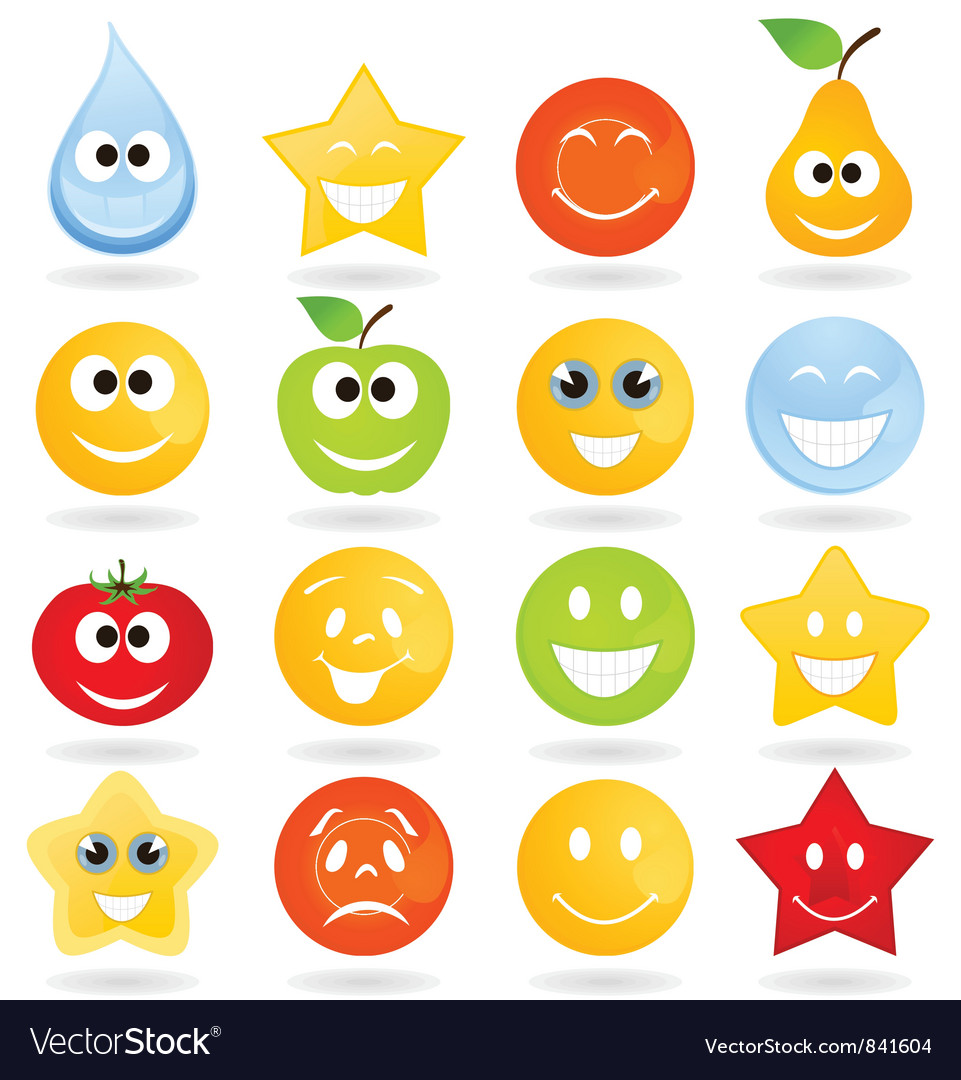 Smile icons vector