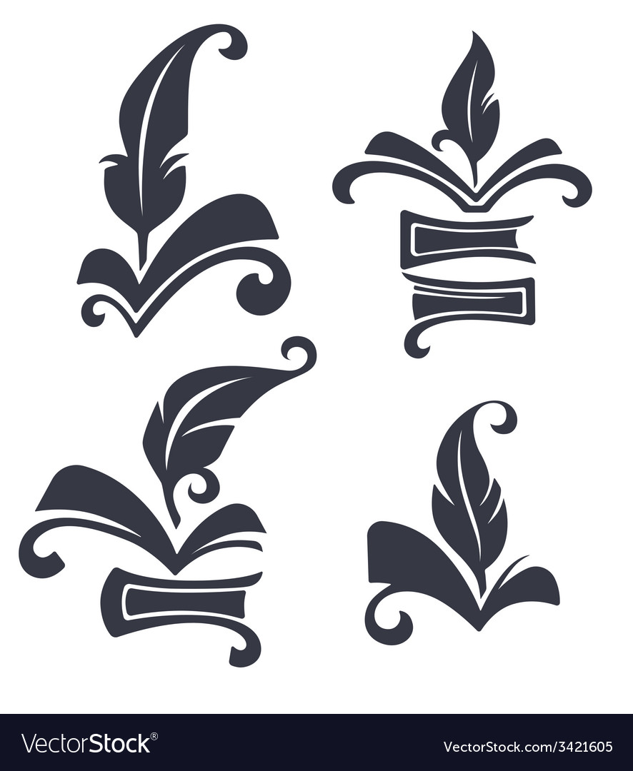 Old book collection vector