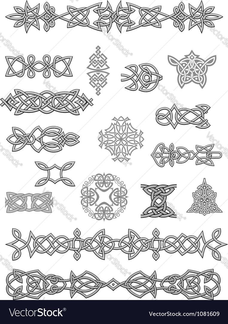 Celtic ornaments and embellishments vector
