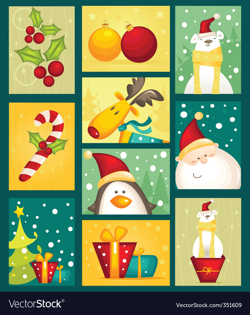 Christmas character vector