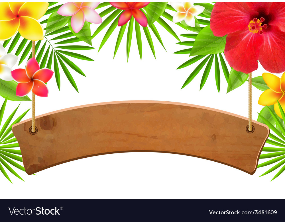 Wood sign banner vector