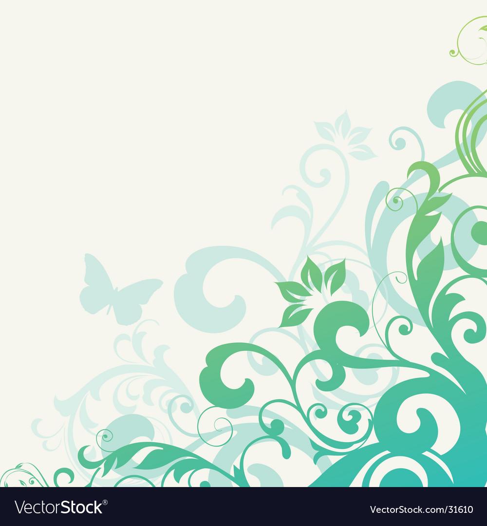 Floral background element vector