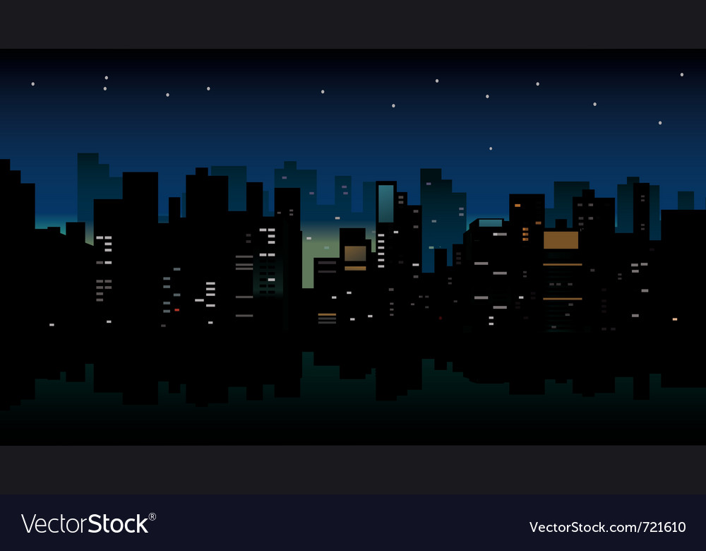 Night city view vector