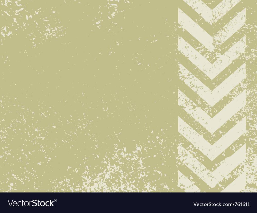 Grungy worn hazard stripes vector