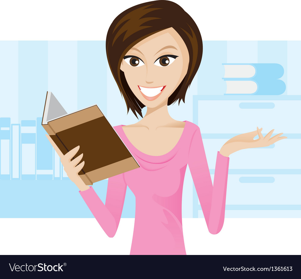 Girl book vector