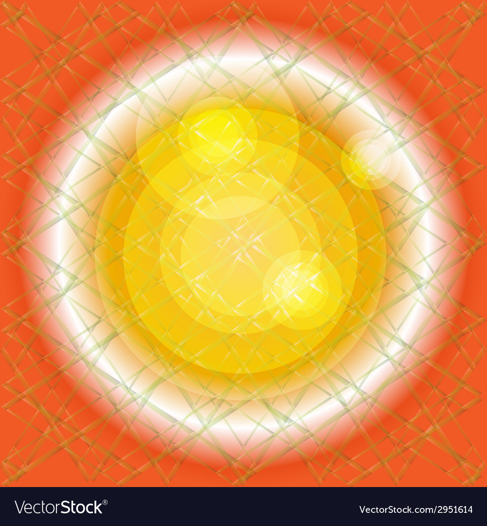 Orange background texture with circle light vector