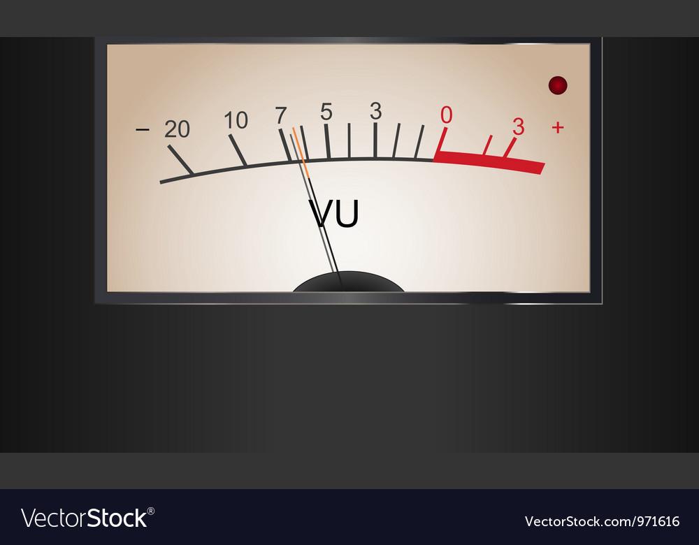Analog vu meter vector