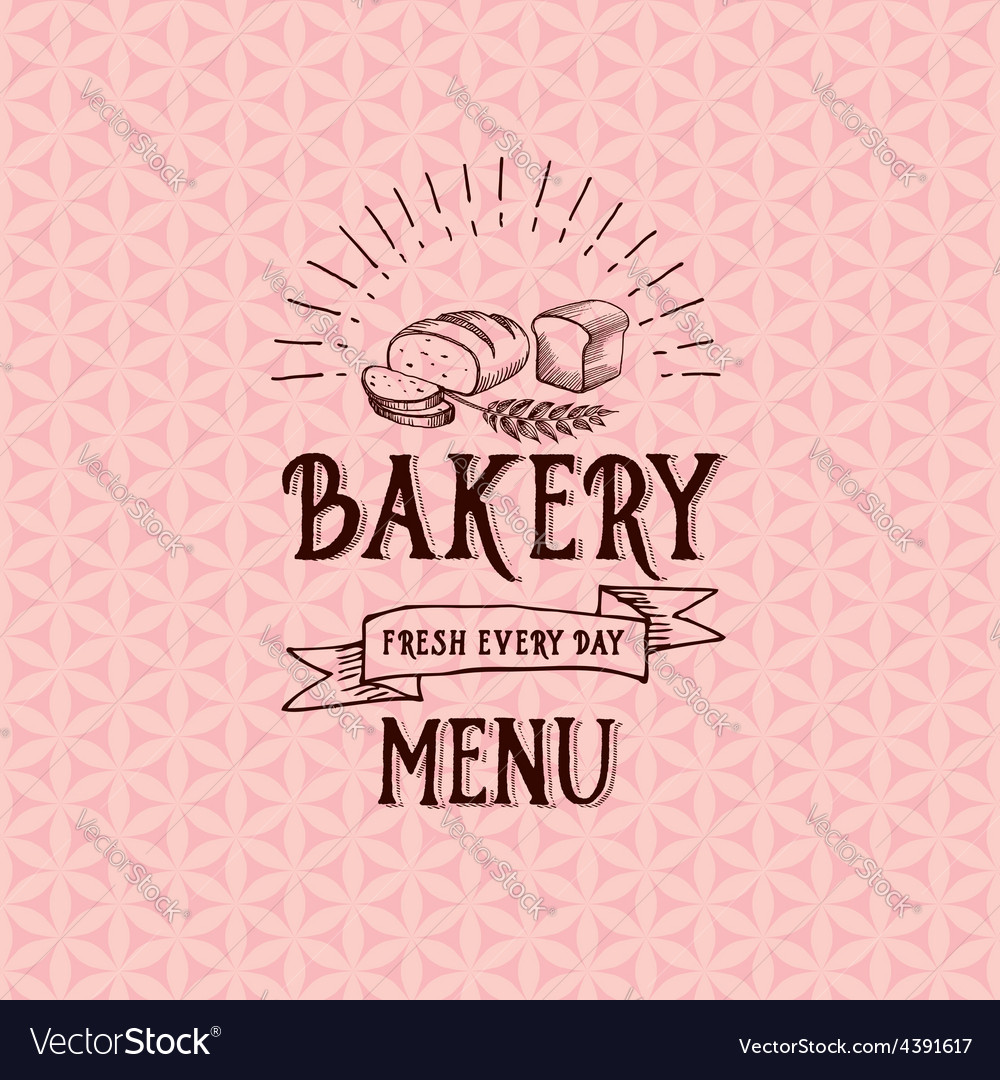 Menu logo template vintage badge food design vector