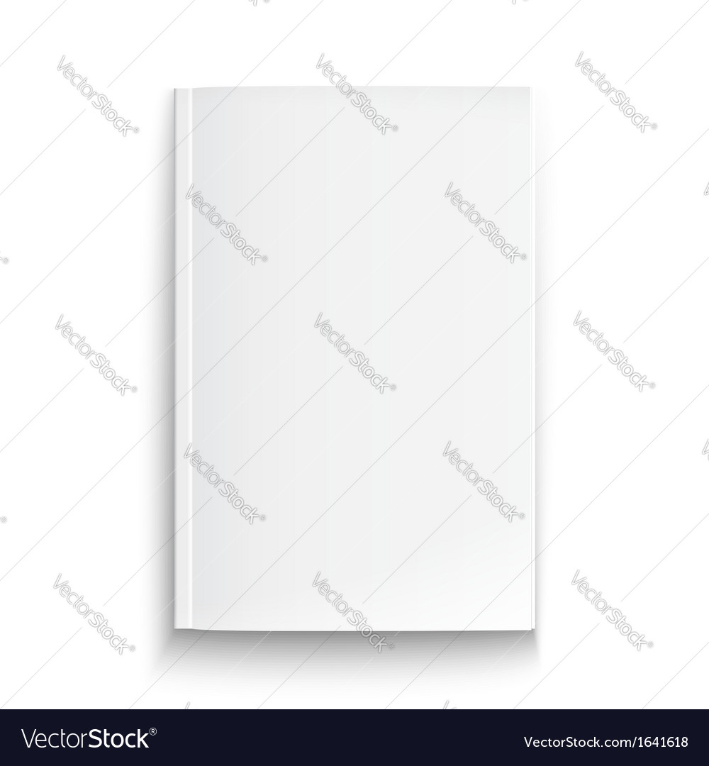 Blank magazine template with soft shadows vector