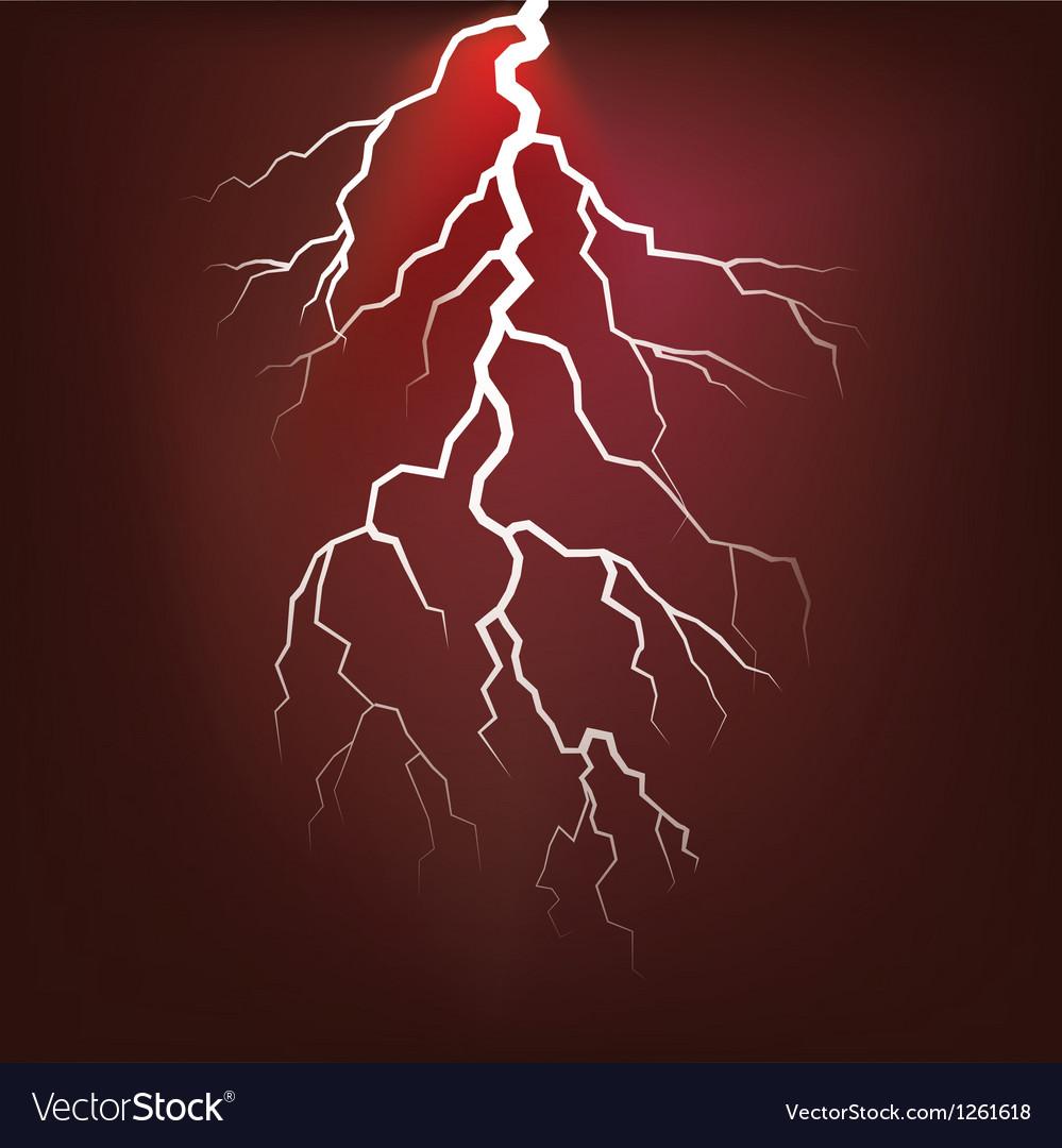 Lighting flash on the dark sky vector