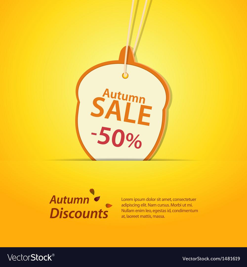 Autumn acorn discount label vector