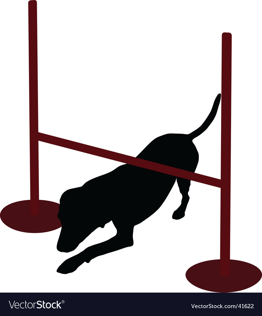 Dog training obedience command creep vector