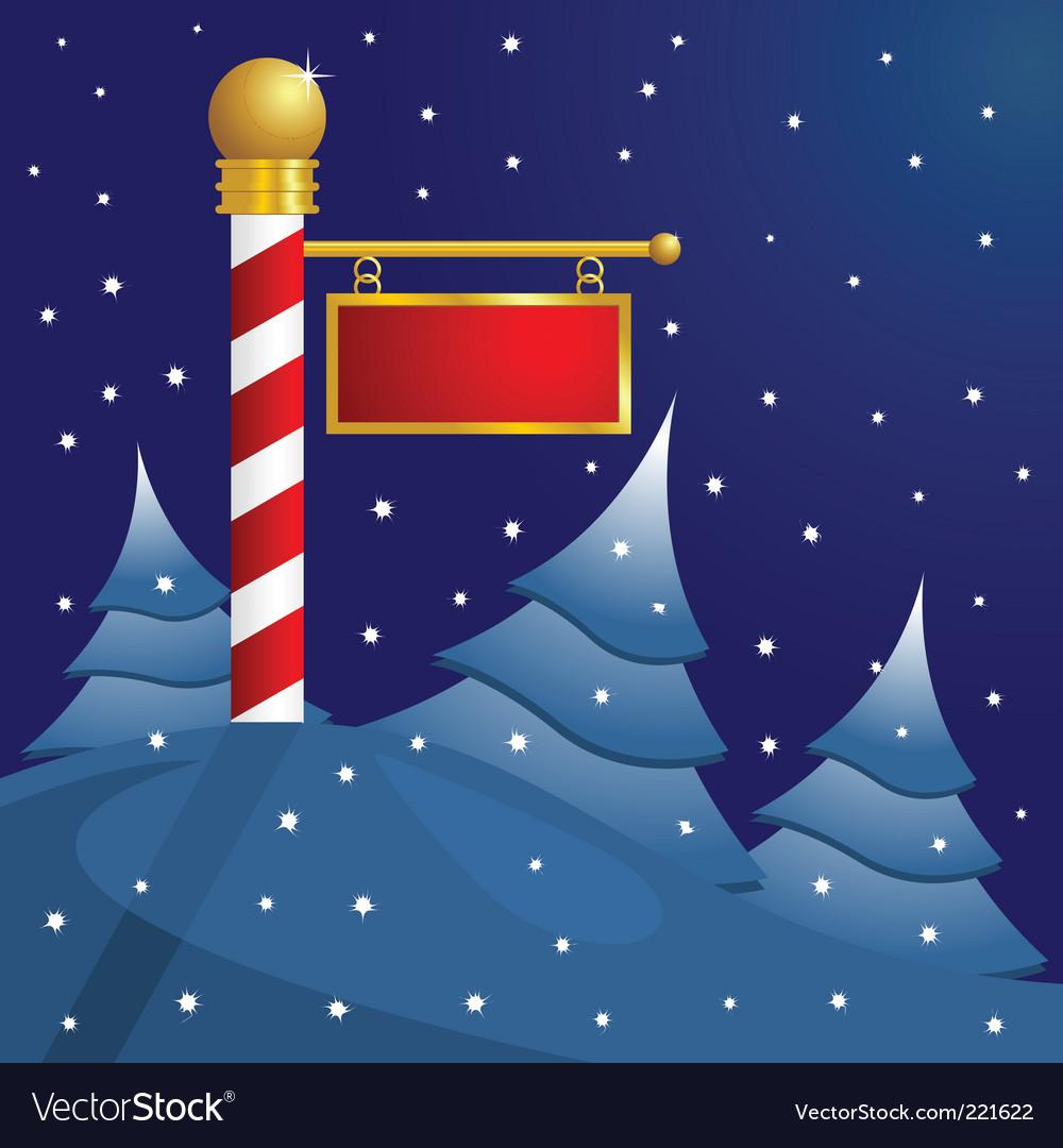 North pole christmas vector