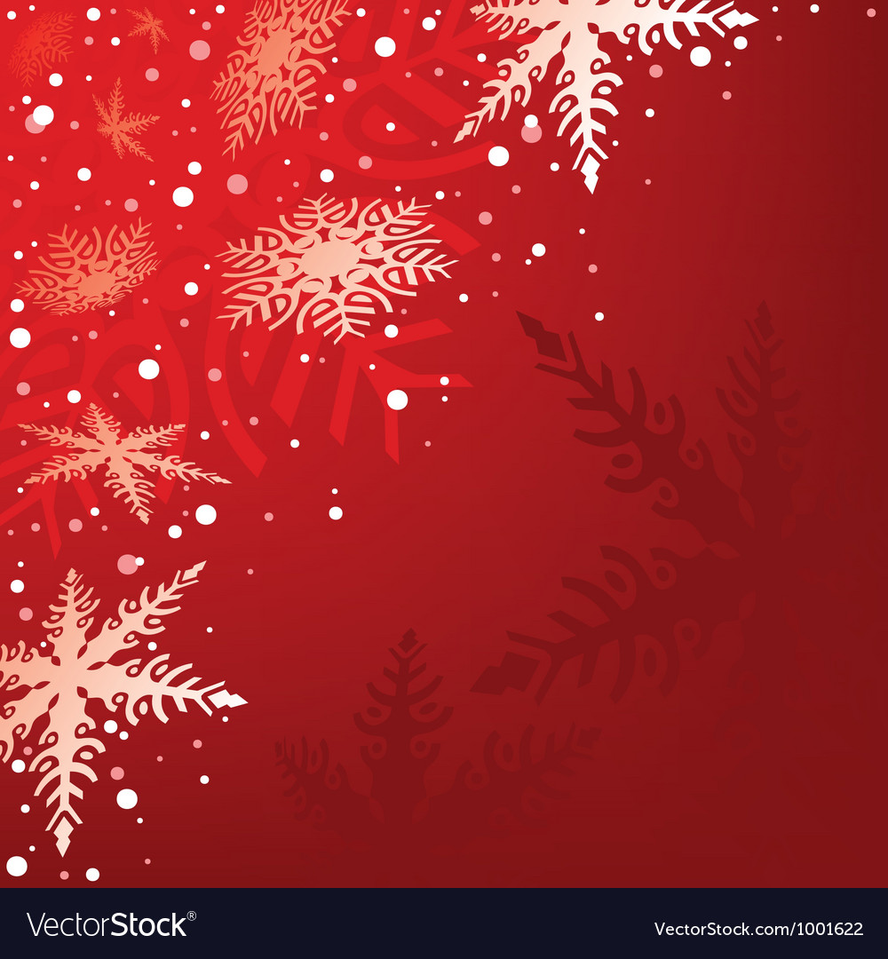 Red xmas background vector