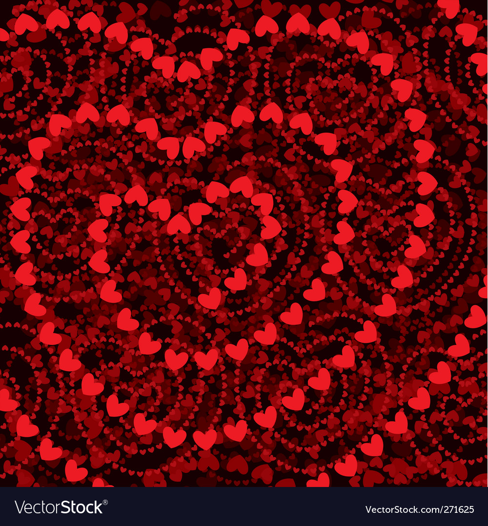 Heart shapes background vector