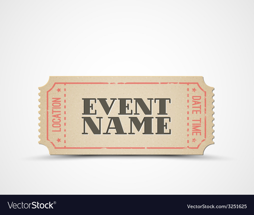 Ticket as a template for your event vector