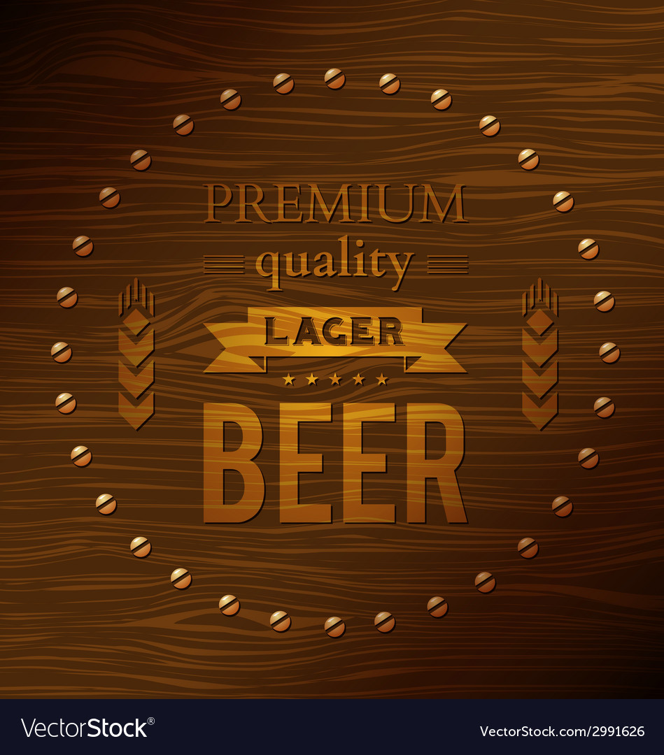 Premium quality lager beer vector