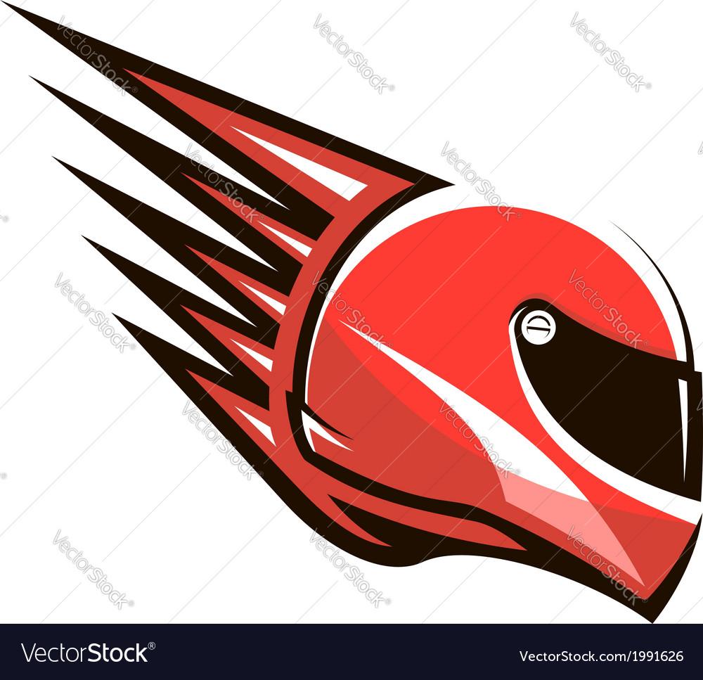 Racing helmet with speed spikes vector