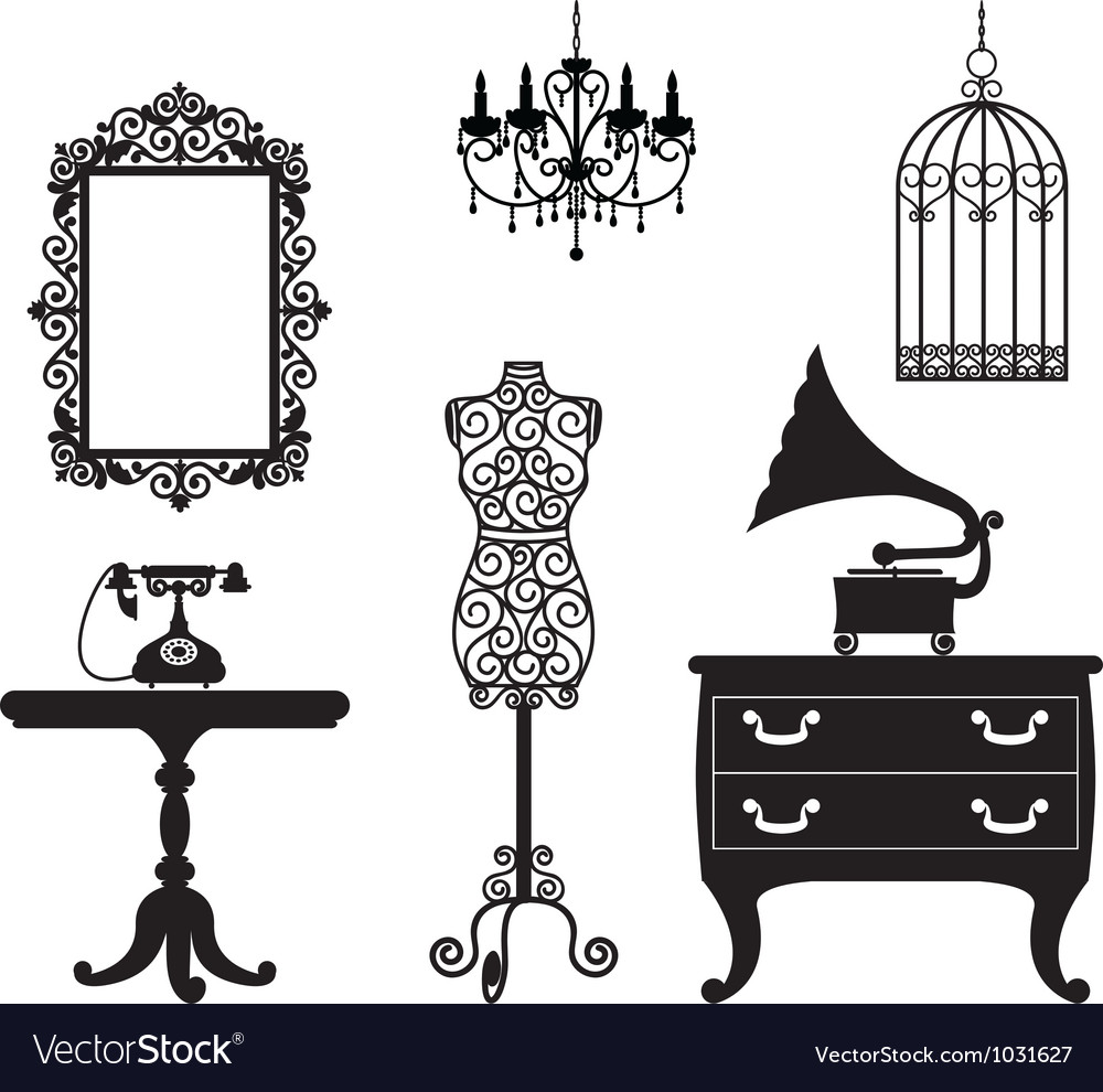 Antique collection vector