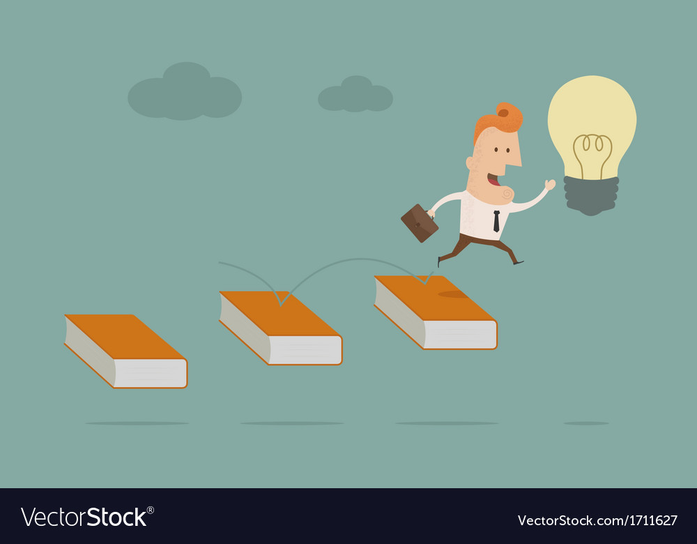 Businessmanbooktosuccess2 vector