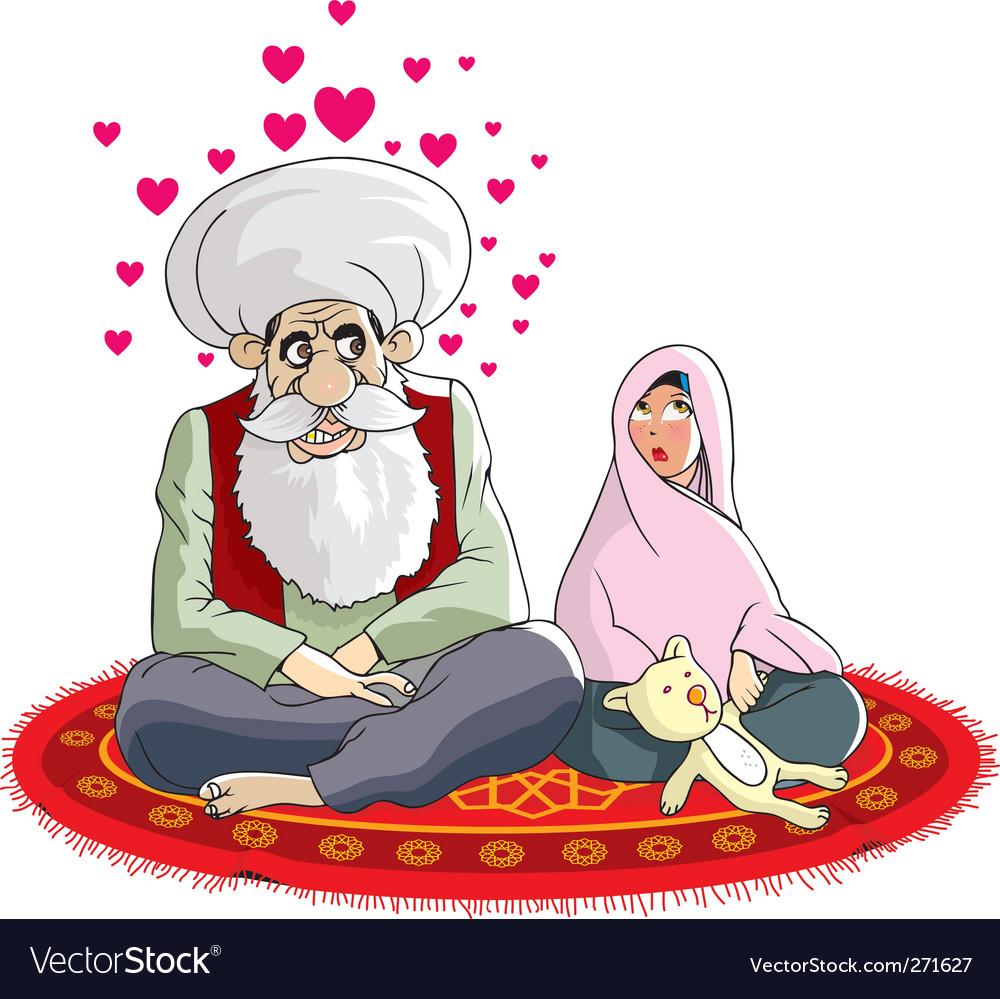 Muslim wedding vector