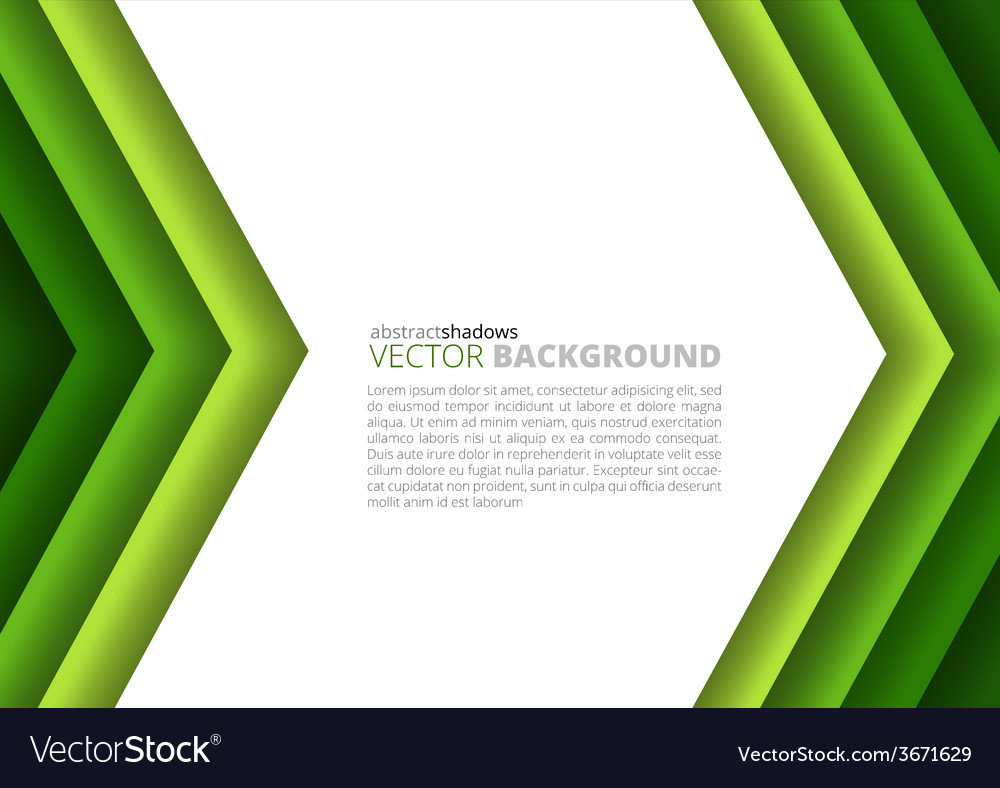 Paper a4 sheet green direction design vector