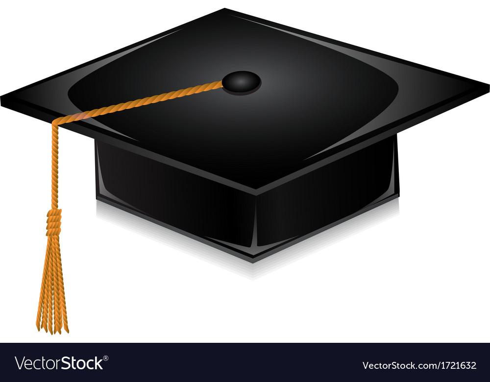 Graduate cap vector