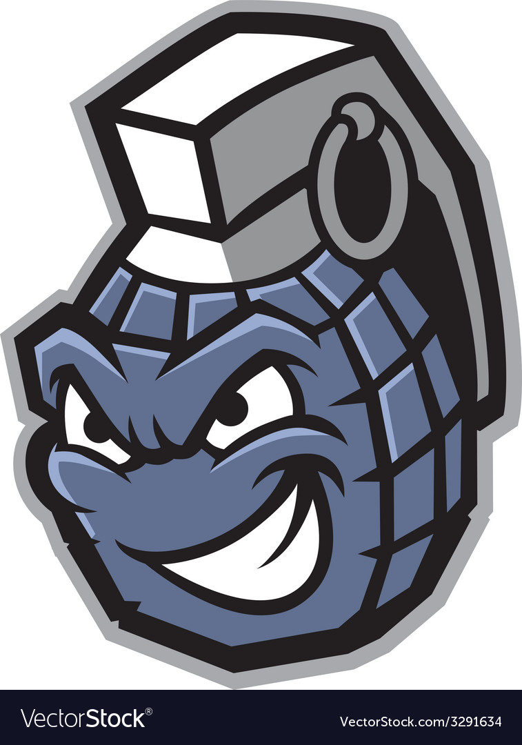 Grenade mascot vector