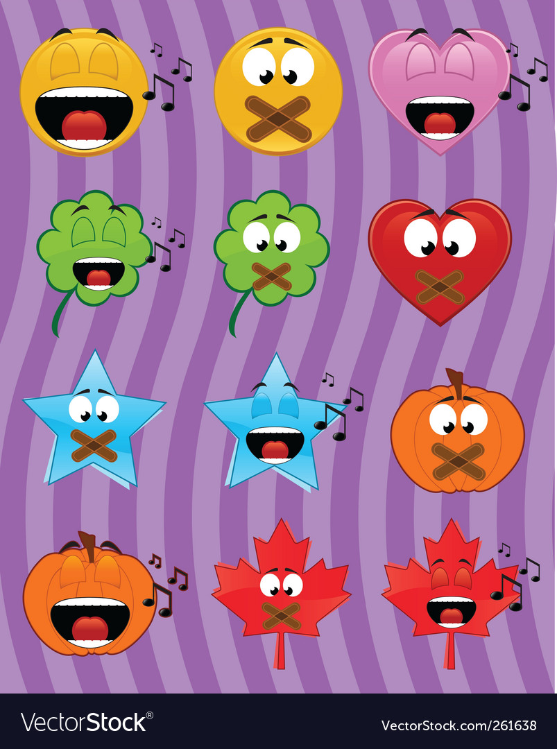 Music emoticons vector