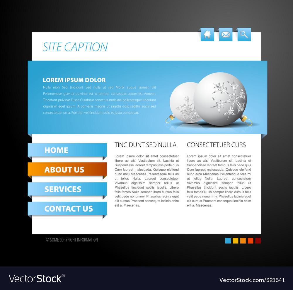 Christmas web page template vector