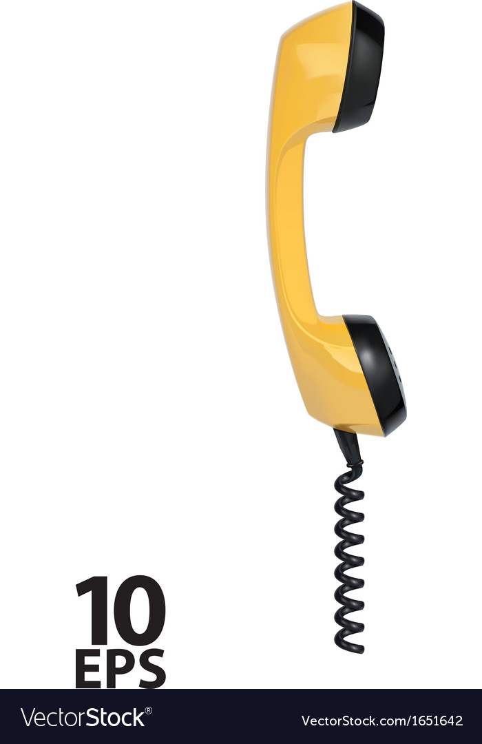 Handset of vintage telephone vector