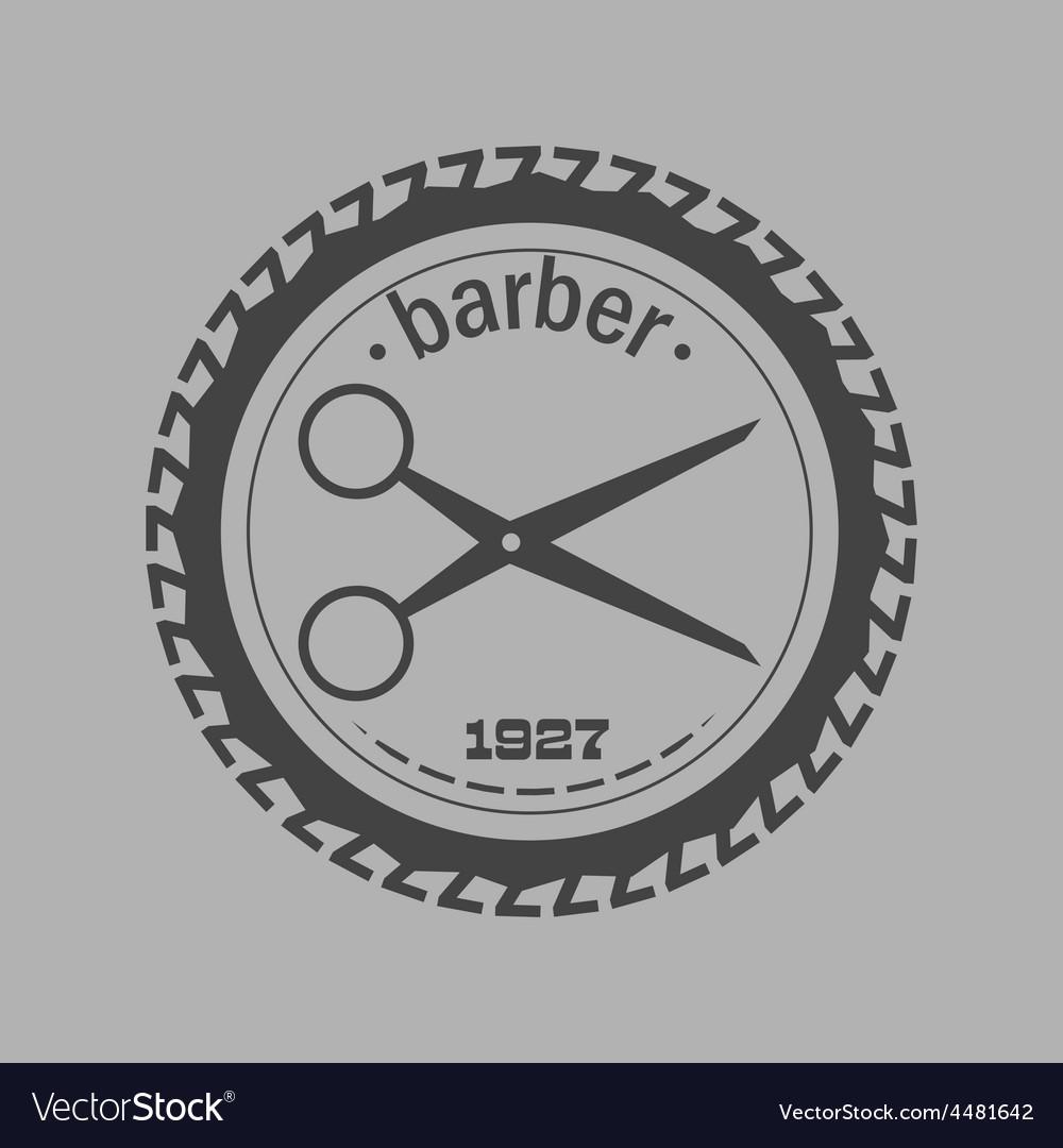 Vintage barber shop logo labels badges and vector