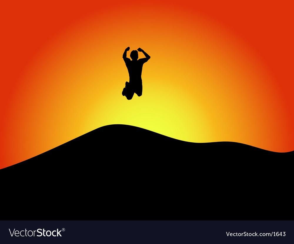 Jump for joy vector