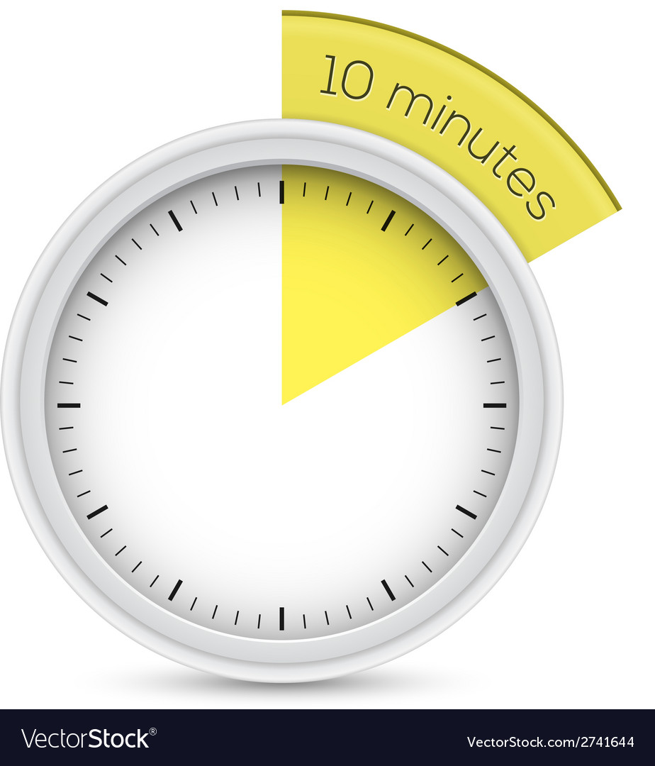 Stop-watch 10 minutes timer vector