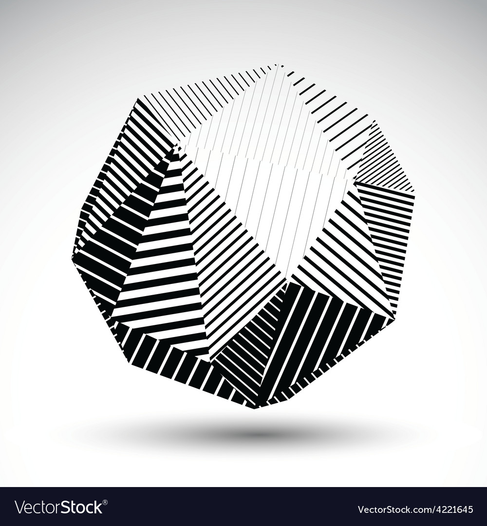 Abstract 3d polygonal contrast figure art vector