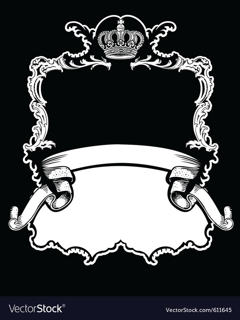Royal crown vintage vector