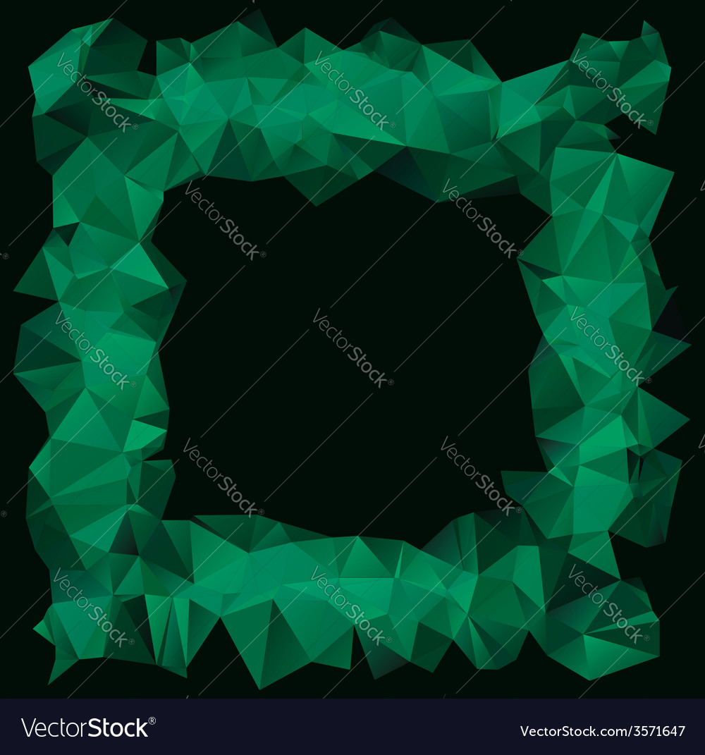 Green crystallic frame vector