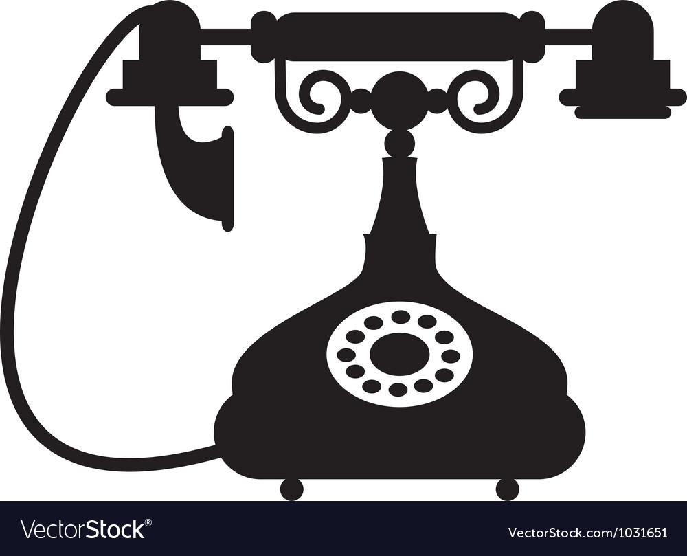 Antique telephone vector