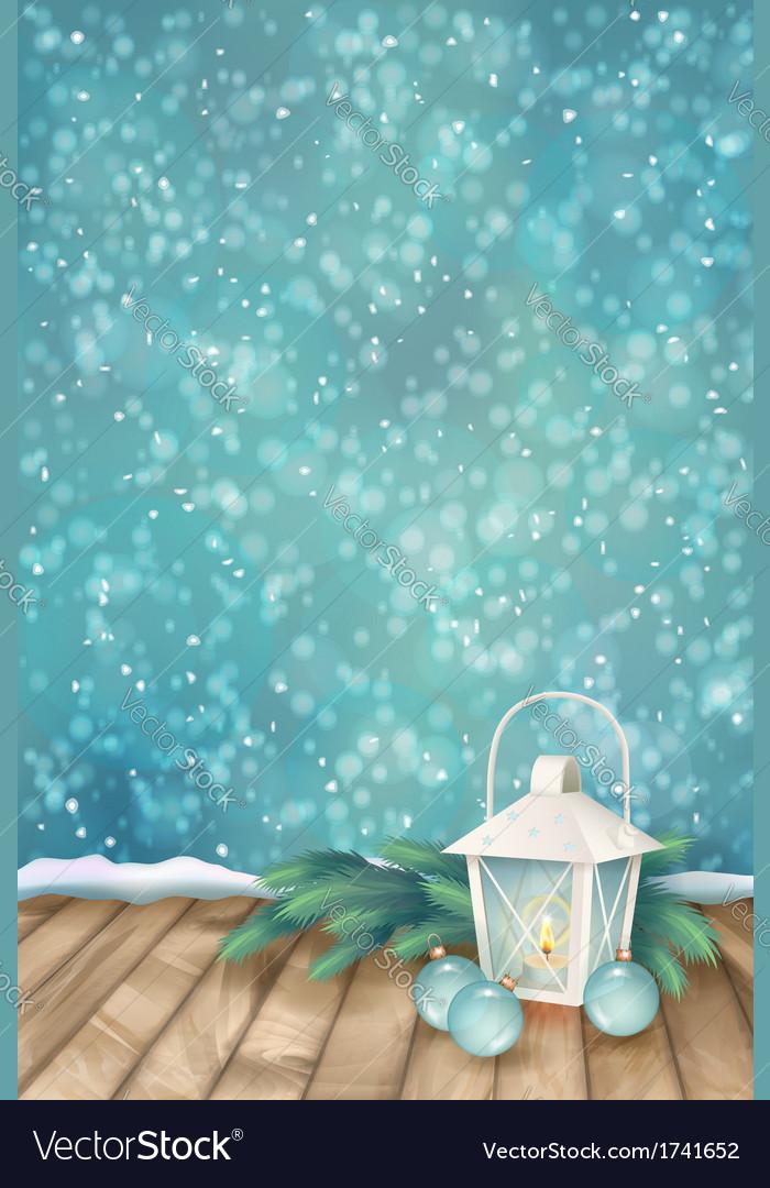 Winter christmas scene background vector