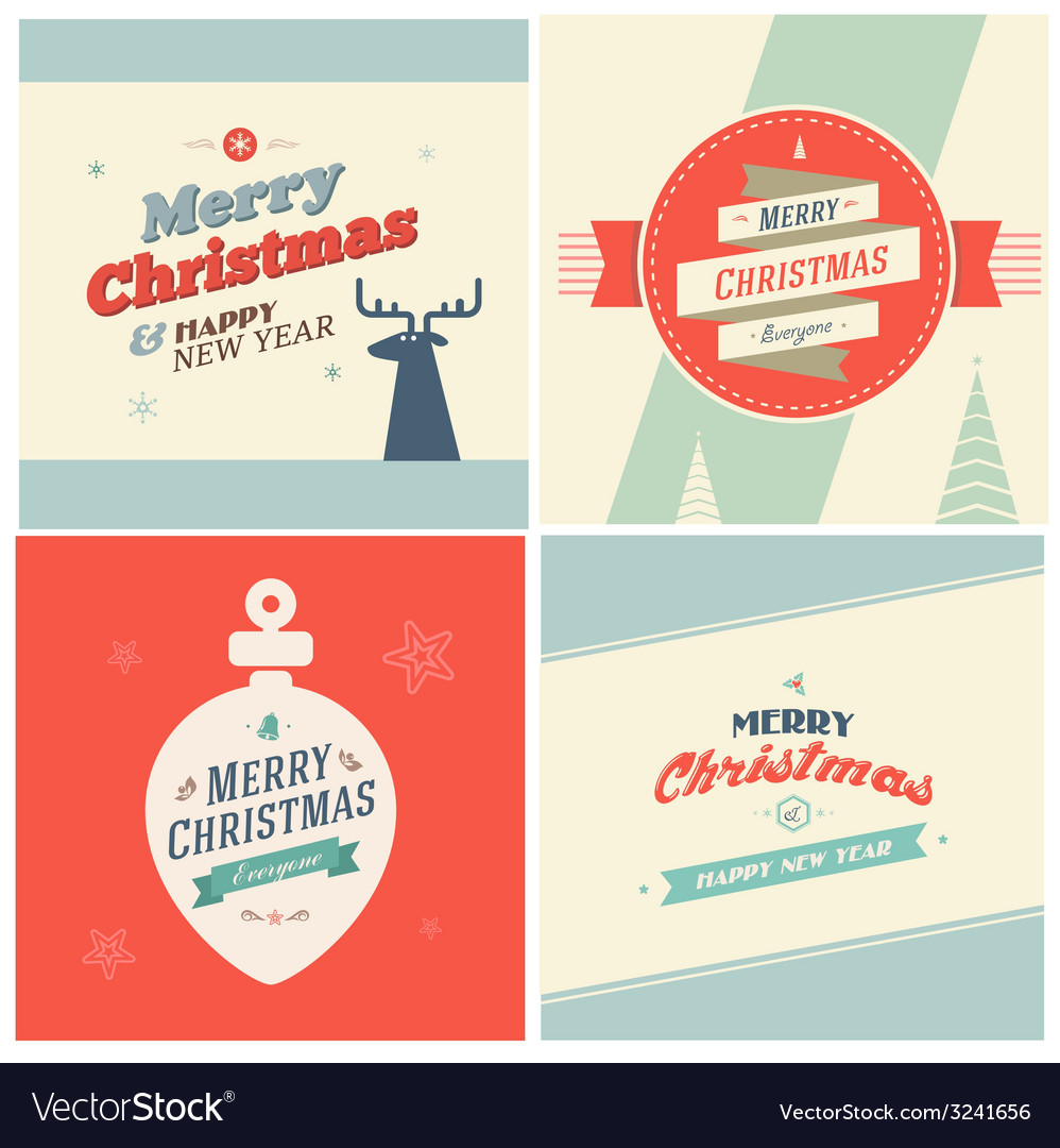 Vintage christmas elements background with vector